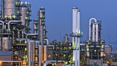 Oil & Gas refinery by night